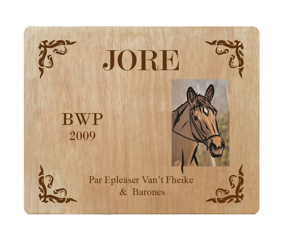 Plaque d'écurie cheval